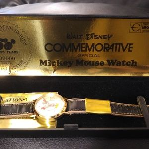 50 anniversary commemorative mickey mouse watch